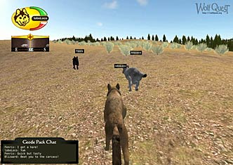 Screenshot of Wolves running