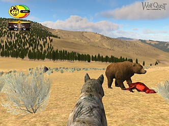Screenshot of a Grizzly feeding