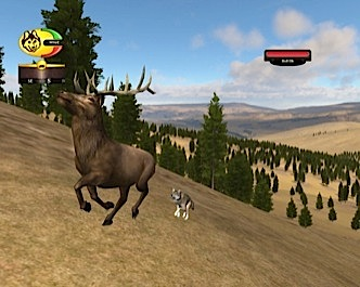 Screenshot of chasing bull elk