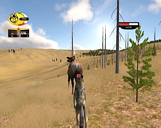 Screenshot of elk chase